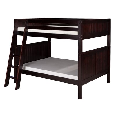 Camaflexi Full over Full Bunk Bed with Angle Ladder and Panel Headboard
