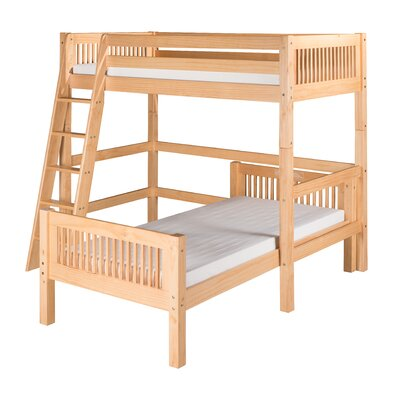 Twin Over Twin L-Shape Loft Bed with Mission Headboard