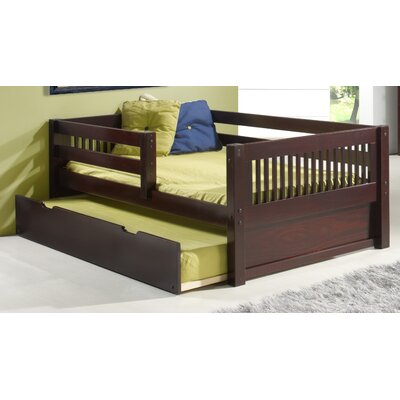 day bed with guard rail wayfair. Black Bedroom Furniture Sets. Home Design Ideas