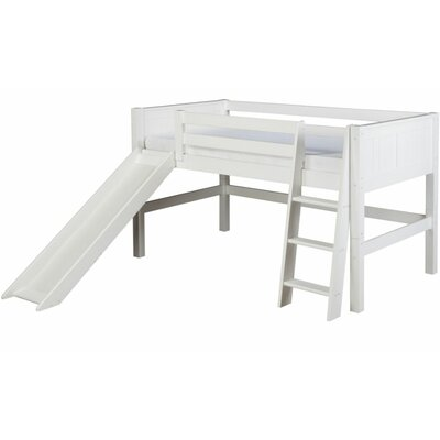 Camaflexi twin low loft bed with slide