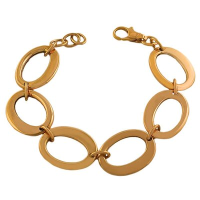 Fremada Jewelry Fancy Oval Link Bracelet