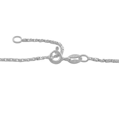 Fremada Jewelry Sterling Silver Twisted Box Chain Anklet
