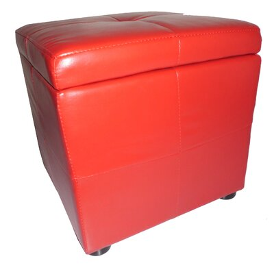 Classic Synthetic Leather Storage Cube Ottoman
