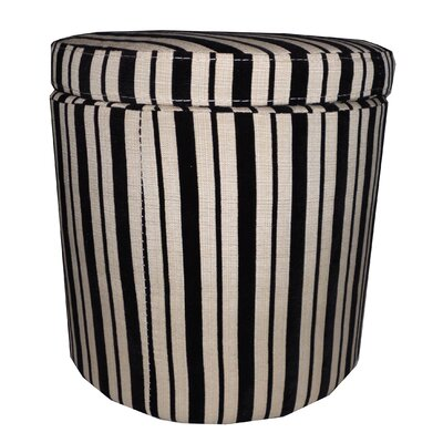 NOYA USA Striped Storage Ottoman