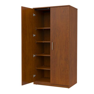 Marco Group Inc. Mobile CaseGoods Tall Storage Cabinet with Locking Doors and 5 Adjustable Shelves