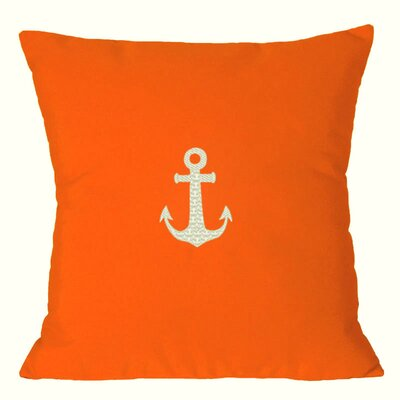 Nantucket Bound Anchor Embroidered Sunbrella Fabric Indoor/Outdoor Pillow