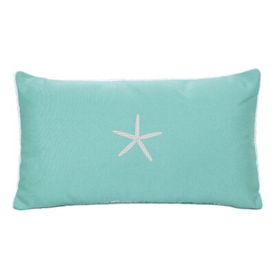 Nantucket Bound Starfish Embroidered Sunbrella Fabric Indoor/Outdoor Pillow