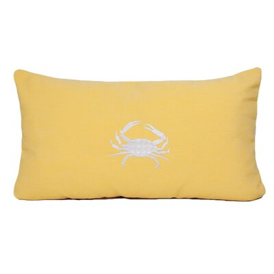 Nantucket Bound Crab Embroidered Sunbrella Fabric Beach Pillow