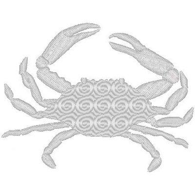 Nantucket Bound Crab Embroidered Sunbrella Fabric Indoor/Outdoor Pillow