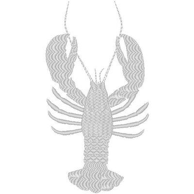 Nantucket Bound Lobster Embroidered Sunbrella Fabric Beach Pillow