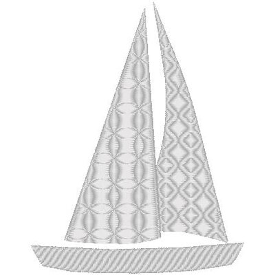 Nantucket Bound Sailboat Sunbrella Fabric Indoor / Outdoor Pillow