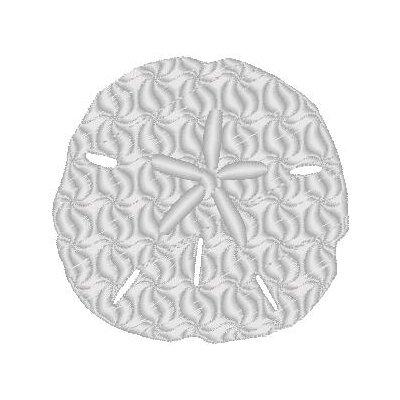 Nantucket Bound Sand Dollar Embroidered Sunbrella Fabric Indoor/Outdoor Pillow