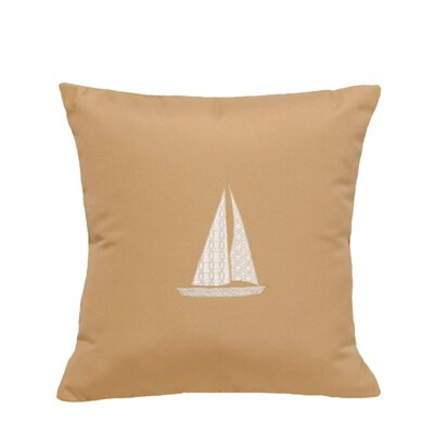 Nantucket Bound Sailboat Embroidered Sunbrella Fabric Indoor / Outdoor Pillow
