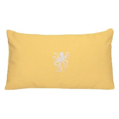 Nantucket Bound Octopus Embroidered Sunbrella Fabric Indoor/Outdoor Pillow