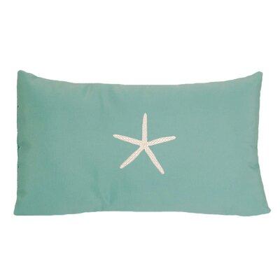 Nantucket Bound Starfish Embroidered Sunbrella Fabric Beach Pillow