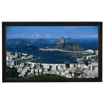 "Elitech 92"" Fixed Frame Screen with High Contrast White Surface"