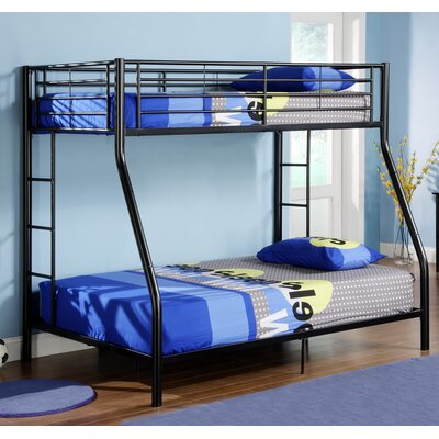 Home Loft Concept Sunrise Twin over Full Bunk Bed with Built-In Ladder