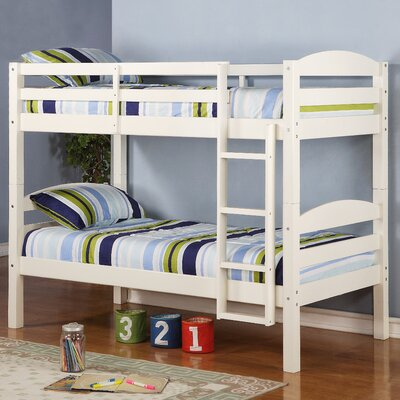 home loft concept twin bunk bed with built in ladder