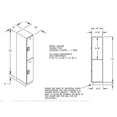 Salsbury Industries Double Tier 1 Wide Designer Locker