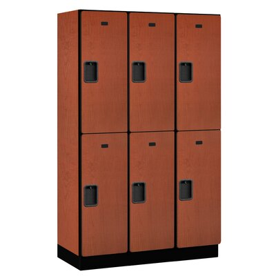 Salsbury Industries Extra Wide Designer Double Tier 3 Wide Locker