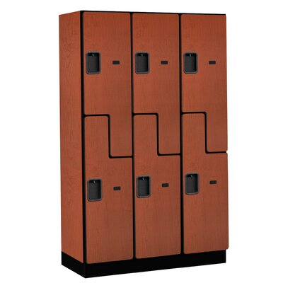 Salsbury Industries Extra Wide Designer Double Tier 3 Wide Locker