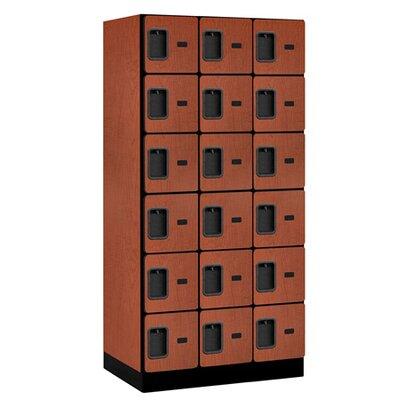 Salsbury Industries Six Tier Box 3 Wide Designer Locker
