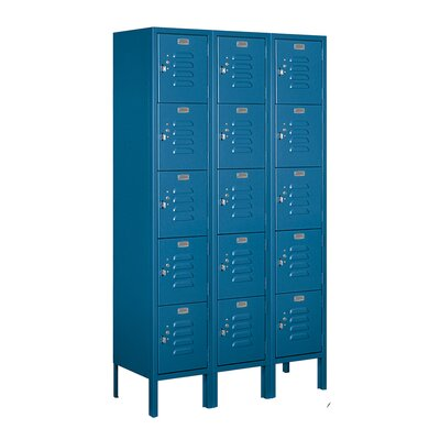 Salsbury Industries Unassembled Five Tier 3 Wide Standard Locker