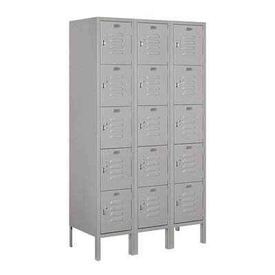 Salsbury Industries Assembled Five Tier 3 Wide Standard Locker