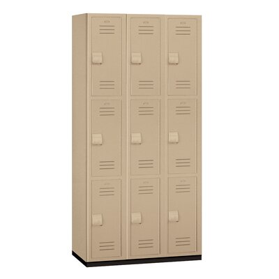 Salsbury Industries Triple Tier 3 Wide Heavy Duty Locker