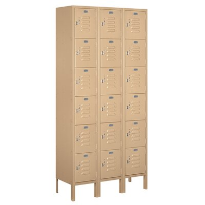 Salsbury Industries Assembled Six Tier Box 3 Wide Standard Locker
