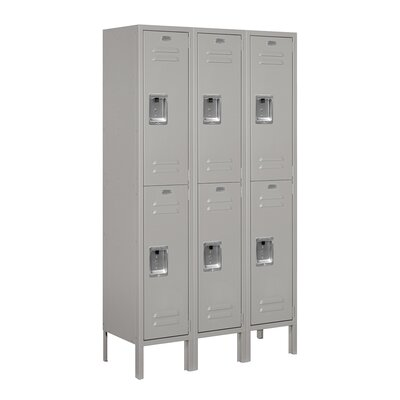 Salsbury Industries Unassembled Double Tier 3 Wide Standard Locker