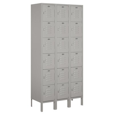 Salsbury Industries Assembled Six Tier Box 3 Wide Standard Locker