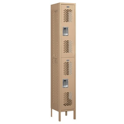 Salsbury Industries Unassembled Double Tier 1 Wide Vented Locker