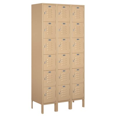 Salsbury Industries Unassembled Six Tier Box 3 Wide Standard Locker