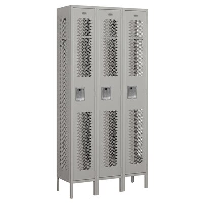 Salsbury Industries Unassembled Single Tier 3 Wide Vented Locker