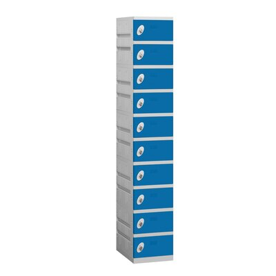 Salsbury Industries Unassembled Ten Tier 1 Wide Locker