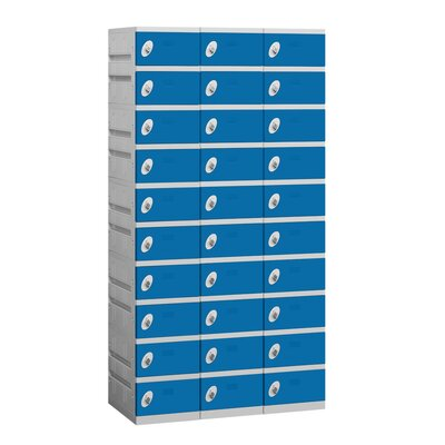 Salsbury Industries Assembled Ten Tier 3 Wide Locker