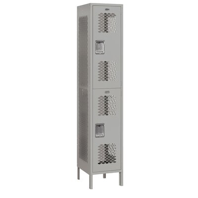 Salsbury Industries Assembled Extra Wide Vented Double Tier 1 Wide Locker