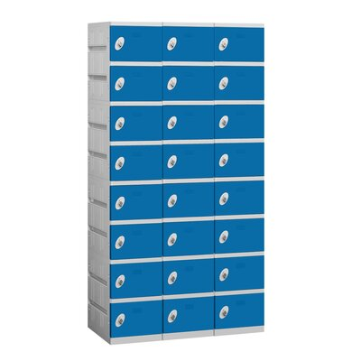 Salsbury Industries Assembled Eight Tier 3 Wide Locker