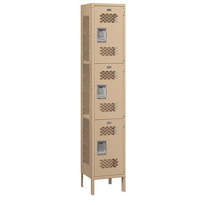 Salsbury Industries Unassembled Extra Wide Vented Triple Tier 1 Wide Locker