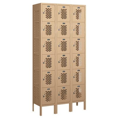 Salsbury Industries Unassembled Six Tier Box 3 Wide Vented Locker