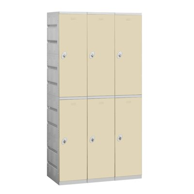 Salsbury Industries Assembled Double Tier 3 Wide Locker