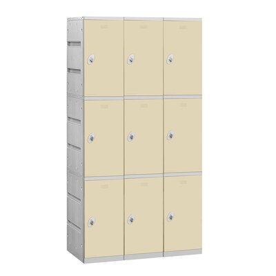 Salsbury Industries Assembled Triple Tier 3 Wide Locker