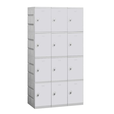 Salsbury Industries Assembled Four Tier 3 Wide Locker
