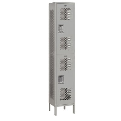 Salsbury Industries Unassembled Extra Wide Vented Double Tier 1 Wide Locker