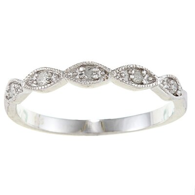 Sterling Silver Stackable Diamond Ring
