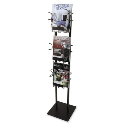 Buddy Products 3 Pocket Magazine Display Rack