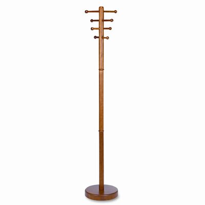 Buddy Products 4 Ball-Tipped Double-Hook Coat Rack