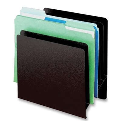 "Buddy Products Slant File Organizer,6-Pockets,9-7/8""x5-1/4""x10-1/2"",Black"