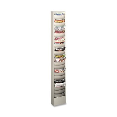 "Buddy Products Curved Pocket Rack, 23 Pockets, 9-3/4""x4-1/2""x66-3/8"", PM"